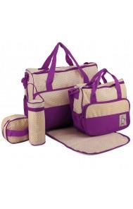 Komplet torbic za mamice Alissa vijolična